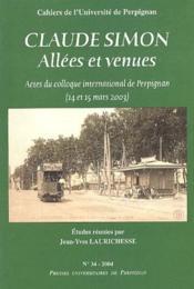 Claude Simon ; allees et venues - Couverture - Format classique