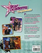 Star Academy, une promo en or - 4ème de couverture - Format classique