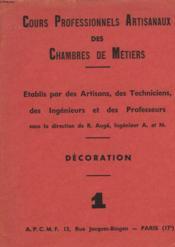 Cours Professionnels Artisanaux Des Chambres De Metiers 1 - Couverture - Format classique