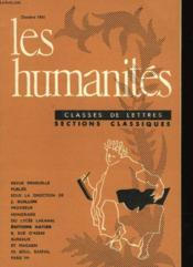 Les Humanites N°369 - Classes De Lettres - Sections Classiques - Couverture - Format classique