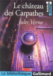 Le Chateau Des Carpathes - Couverture - Format classique