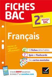 FICHES BAC ; français ; 2de - Couverture - Format classique