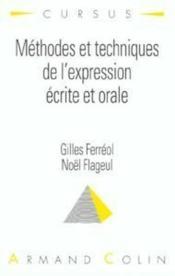 Methodes et techniques d'expression ecrite et orale - Couverture - Format classique