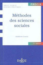 Methodes des sciences sociales - 11e ed. - Intérieur - Format classique