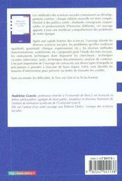 Methodes des sciences sociales - 11e ed. - 4ème de couverture - Format classique