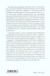 L'Inquisition Espagnole Et La Construction De La Monarchie Confessionnelle (1478-1561) - 4ème de couverture - Format classique