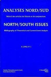 Analyses Nord/Sud X(1992) 2 - Couverture - Format classique