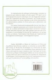 Territoires Et Politiques Technologiques : Comparaiso - 4ème de couverture - Format classique