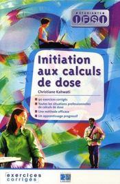 Initiation aux calculs de dose - Intérieur - Format classique