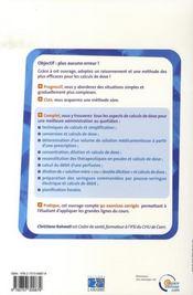 Initiation aux calculs de dose - 4ème de couverture - Format classique