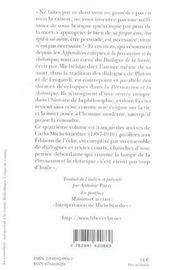 Le Dialogue De La Sante Et Autres Textes - 4ème de couverture - Format classique