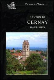 Canton De Cernay (Haut-Rhin) - Couverture - Format classique