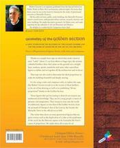 Geometry Of The Golden Section - 4ème de couverture - Format classique