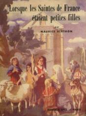 Lorsque les saintes de france étaient petites filles - Couverture - Format classique