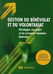 Gestion du bénévolat et du volontariat - Intérieur - Format classique