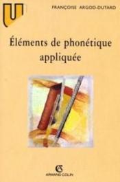 Éléments de phonétique appliquée - Couverture - Format classique