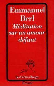 Meditation sur un amour defunt - Intérieur - Format classique