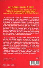 Guerres Civiles A Rome L1 (Les) - 4ème de couverture - Format classique
