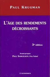 L'Age Des Rendements Decroissants - Intérieur - Format classique