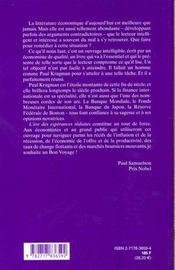 L'Age Des Rendements Decroissants - 4ème de couverture - Format classique