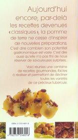 Recettes de pommes de terre - 4ème de couverture - Format classique
