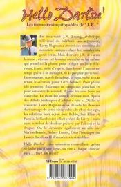 Hello Darlin ! Les Memoires Impitoyables De J.R. - 4ème de couverture - Format classique