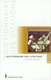Dictionnaire Des Citations - Couverture - Format classique