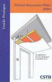 Plafond rayonnant plâtre - Intérieur - Format classique