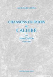 Chansons en patois de caluire - Couverture - Format classique