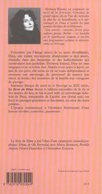 Livre De Dina ; Oeuvre Complete - 4ème de couverture - Format classique