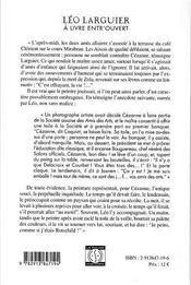 Leo larguier, a livre entr'ouvert - 4ème de couverture - Format classique