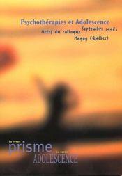 Psychotherapies Et Adolescence - Intérieur - Format classique