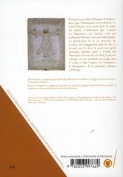 L'humanisme italien de la Renaissance et l'Europe - 4ème de couverture - Format classique