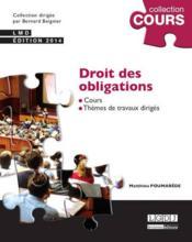 Droit des obligations (3e édition) - Couverture - Format classique