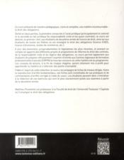 Droit des obligations (3e édition) - 4ème de couverture - Format classique