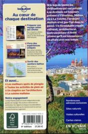 Malte et Gozo (4e édition) - 4ème de couverture - Format classique