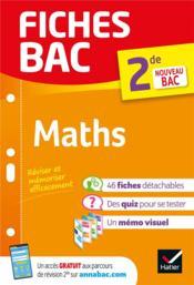 FICHES BAC ; maths ; 2de - Couverture - Format classique