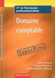 Domaine comptable ; 1ère et terminale professionnelles secrétariat ; pochette contrôles - Couverture - Format classique