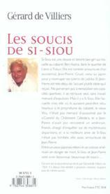 Les Soucis De Si Siou - 4ème de couverture - Format classique