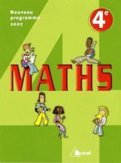 Mathématiques ; 4ème - Couverture - Format classique
