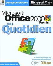 Office 2000 Premium - Intérieur - Format classique
