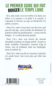 Paris j'm'y mets - 4ème de couverture - Format classique