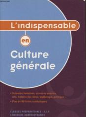 Culture generale - Couverture - Format classique