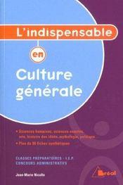 Culture generale - Intérieur - Format classique