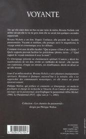 Voyante ; Vivre Avec Des Facultes Paranormales - 4ème de couverture - Format classique