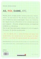 As Roi Dame Etc ; La Bible Des Jeux De Cartes - 4ème de couverture - Format classique