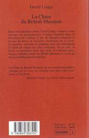 La Chute Du British Museum - 4ème de couverture - Format classique