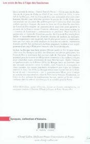 Les Croix-de-feu à l'âge des fascismes - 4ème de couverture - Format classique