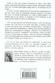 Marx Raconte A Mon Fils - 4ème de couverture - Format classique