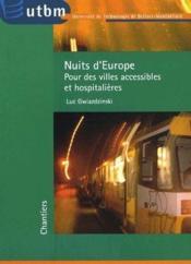 Nuits d'Europe ; pour des villes accessibles et hospitalières - Couverture - Format classique